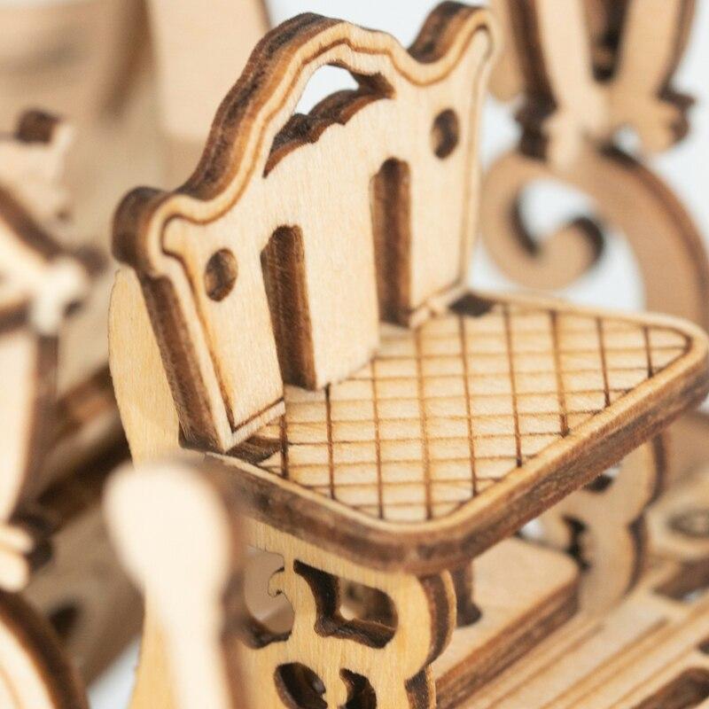 Modèle en bois à assembler 182 morceaux DIY Mobile 3D En Bois carosse de Cendrillon 10