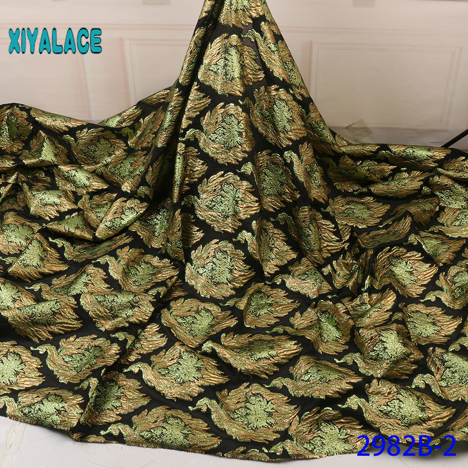 Green Nigerian Lace Fabric 2019 High Quality Lace Brocade Lace Fabric African French Tulle Mesh Lace Fabric For Party YA2982B-2