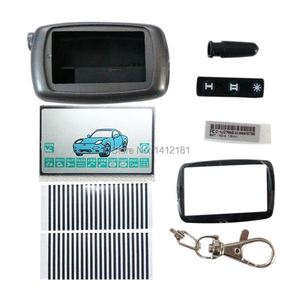 A9 Keychain Case Body Cover + A9 LCD Display Zebra Flexible Cable For Two Way Car Alarm Twage Starline A9 A8 LCD Remote Control