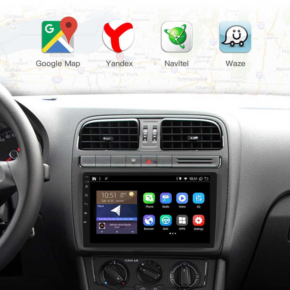 RAM 4G + 64GB 8 Core Android 9.0 PX6 Dẫn Đường GPS Autoradio Đa Phương Tiện Đầu DVD Bluetooth Wifi Mirrorlink DSP OBD2 Đa Năng
