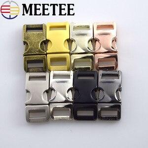 Металлические пряжки Meetee 10 мм с боковым спуском, 5 шт., пряжки для маленьких собак, зажимы для воротника, Паракорд для рюкзак, лямка, H6-2