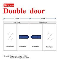 KINGJOIN podwójne drzwi do szklanych drzwi używane przez centrum handlowe lub szpitale automatyczne drzwi przesuwne otwieracz do drzwi szklanych na