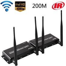 100M 200M Wireless WIFI Transmission HDMI Extender Transmitter Receiver Audio Video Converter Sender DVD Laptop PC To TV Monitor