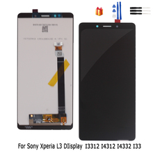 Display LCD Original Para Sony Xperia Tela de Toque Digitador Assembléia Para Sony Xperia L3 L3 LCD I3312 I4312 I4332 I33 display LCD