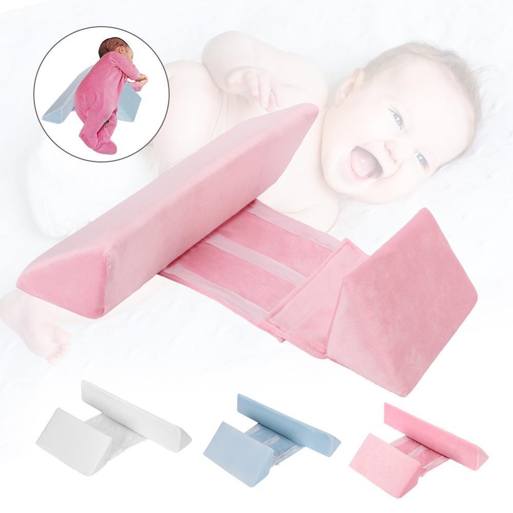 bebe recem nascido shaping travesseiro anti rollover lado dormir travesseiro triangulo bebe infantil posicionamento travesseiro para