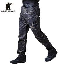 Mege militar tático calças de carga masculina calças casuais camuflagem dropship corredores roupas trabalho da motocicleta pantalones hombre