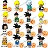 KT1007 KT1009 KT1011 KT1020 Dragon Ball Z Building Blocks mini Anime cartoon Action toy Figure Assemble bricks toys for kid gift
