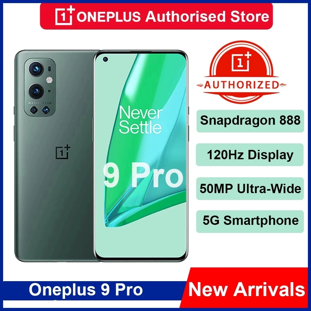 Глобальный Встроенная память OnePlus 9 Pro 5G Смартфон Snapdragon 888 120 Гц жидкости Дисплей 2,0 Hasselblad 50MP ультра-широкий Oneplus 9pro чехол для телефона