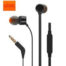 GOOMEL 3.5mm Wired אוזניות סטריאו מוסיקה עמוק בס אוזניות אוזניות ספורט אוזניות ב קו שליטה דיבורית עם מיקרופון