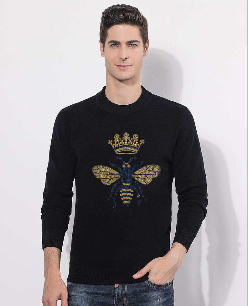 2020 Men's Casual Autumn Fashion Casual  Diamond Stone Pullover Sweater Sale Material Cotton Mens Sweaters