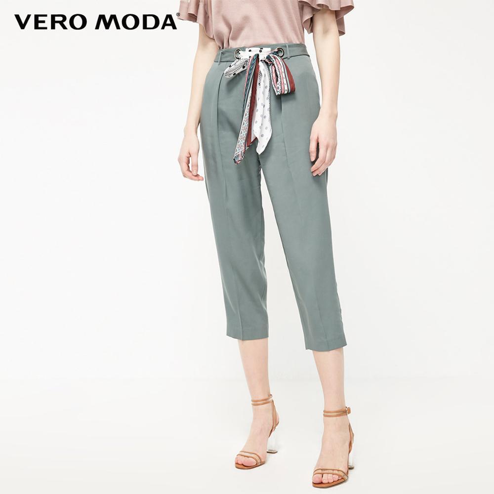 Vero Moda Women's OL Straight Fit Capri Pants | 31936J505