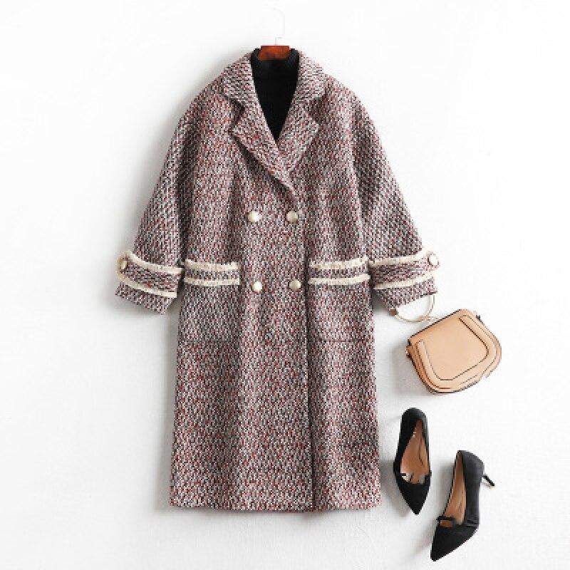 nova moda inverno senhoras casaco de la solto plus size elegante longa secao turndown colarinho lazer