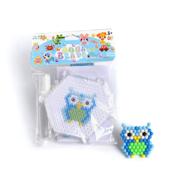 Water Mist Beads 5mm DIY Set Owl Style Creativity Magic Fuse Perler Beads Puzzles Kids Toys For Children Gift