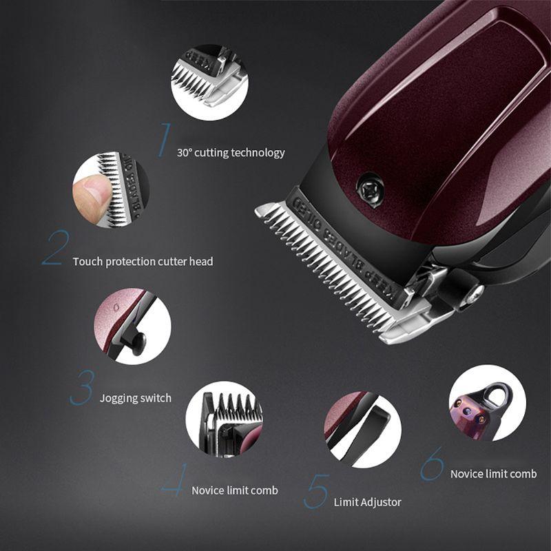 elétrica profissional máquina cortar cabelo aparador poderoso