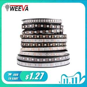 Image 1 - WS2812B DC 5V LED bande RGB 50CM 1M 2M 3M 4M 5M 30/60/144 LED s Smart adressable Pixel noir blanc PCB WS2812 IC 17Key Bar