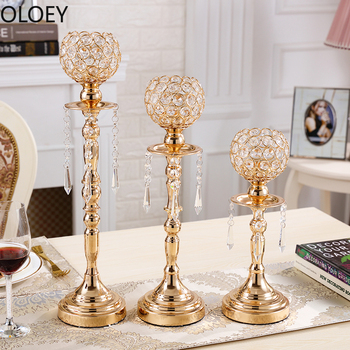 Nordic Glod Candlestick Metal Candle Holders Table Wedding Centerpieces Romantic Candle Stand Bougeoir Centros De Mesa Para Boda