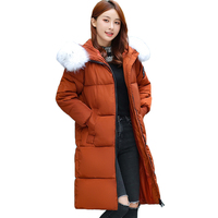 Extra large size 5XL 6XL 7XL Parka Women Winter Jacket New Fur Collar Hooded Outerwear Thick Warm Down Cotton Jacket Long Coat