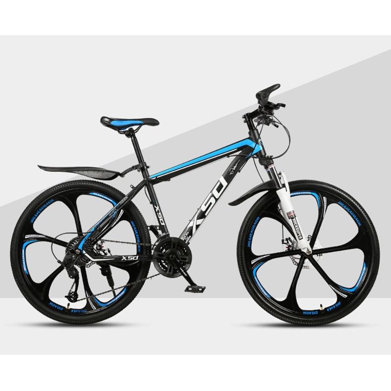 26-Inch 21/24/27/30Speed Mountain Bicycle Shock Absorption Speed Change Mechanical Disc Brake Student Adult Six-blade Wheel Bike