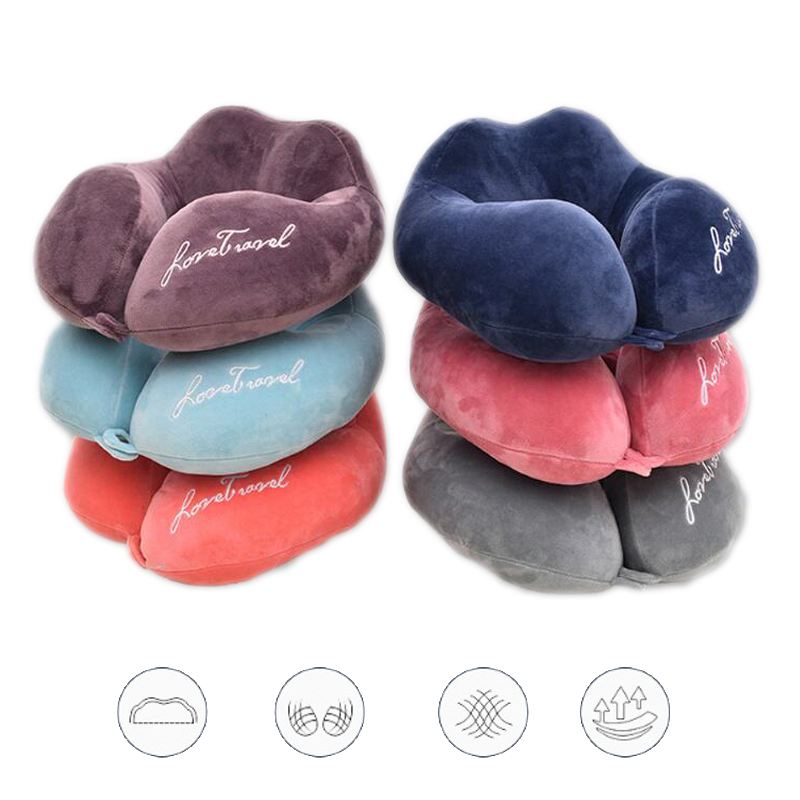 U Shaped Travel Pillows In The Car Soft Cotton Filling Cervical Pillow For Airplane Office Sleep Neck Cushion Drop Shipping