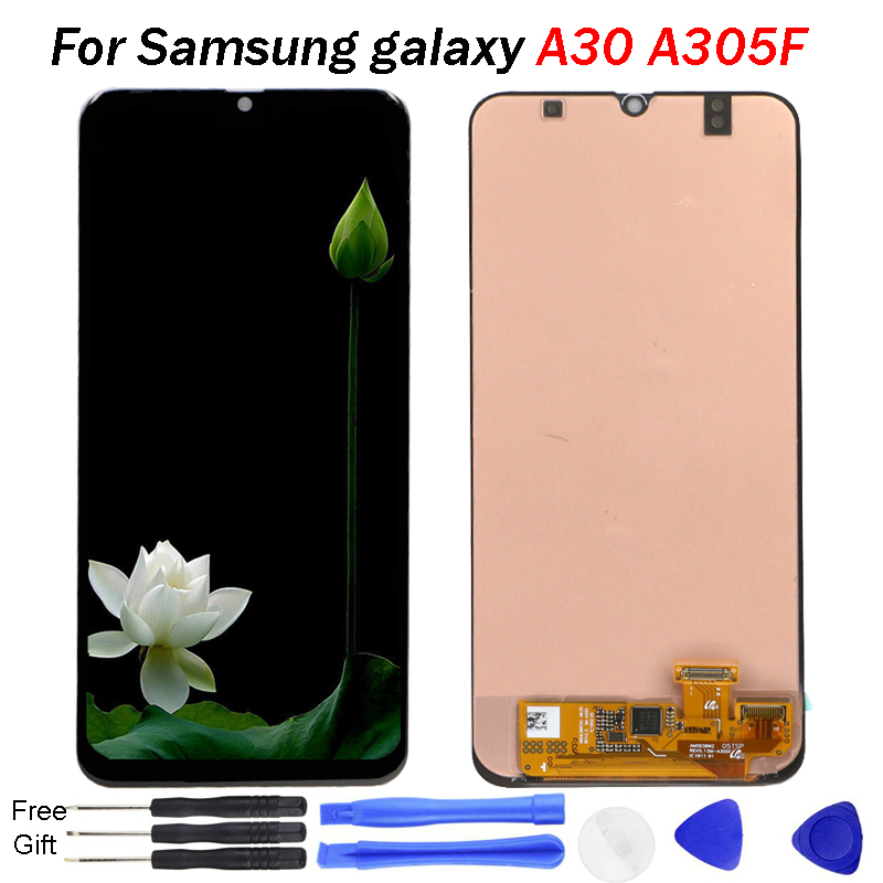 Amoled For <font><b>Samsung</b></font> <font><b>galaxy</b></font> <font><b>A30</b></font> <font><b>LCD</b></font> Display A305/DS A305F A305FD A305A Display Touch Screen Digitizer Assembly For <font><b>Samsung</b></font> <font><b>A30</b></font> <font><b>lcd</b></font> image