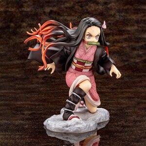 Image 4 - Iblis avcısı Kimetsu hiçbir Yaiba Artfx J Nezuko Kamado Tanjiro Kamad PVC Action Figure Anime şekilli kalıp oyuncak koleksiyonu bebek hediye
