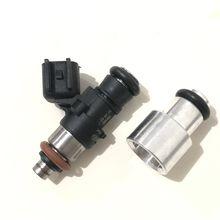 Frete grátis 4 pçs injector de combustível extensor adpator 14mm a 14mm para bosch injector de combustível curto para o tamanho médio com oring
