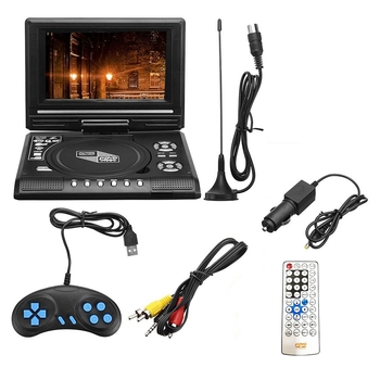 7.8 Inch TV Home Car DVD Player Portable HD VCD CD MP3 HD DVD Player USB SD Cards RCA Portable Cable Game 16:9 Rotate LCD Sn car dvd player with 9 inch car headrest dvd player monitor with 800 480 touch screen speaker support usb sd games remote control