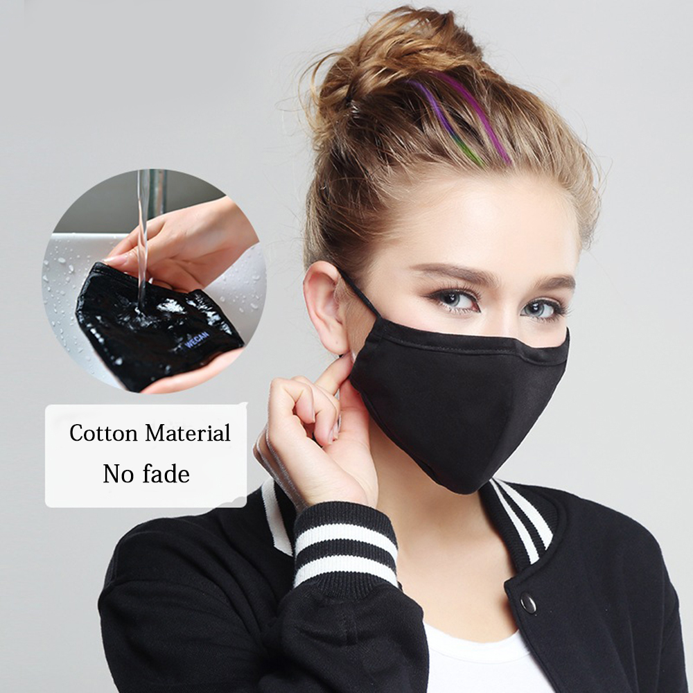 Korean Style Mouth Mask Anti Dust Mouth Masks Activated Carbon Filter Mouth-muffle Mask Anti PM2.5 Fabric Face Mask Anti-virus