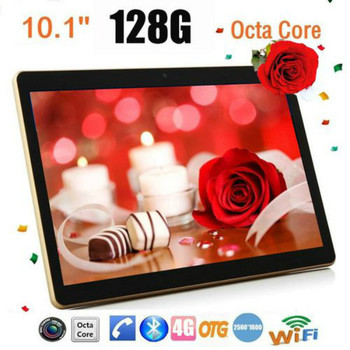 Tablette Android 8.0 10.1inch Tablets 6GB+128GB Bluetooth WiFi Tablet PC Support Dual SIM Card with 4G Phone Call Tablet 10 Core