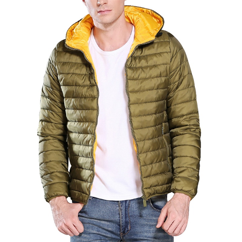 Man Long Sleeves Hooded Jacket Men Winter Solid Warm Coat Thick Parka Loose Thermal,Black,XL