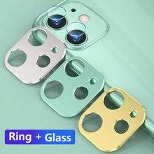 Для iPhone 11 Pro Max задняя камера Объектив Закаленное стекло пленка для iPhone 11 Pro Чехол металлическое защитное кольцо защита экрана
