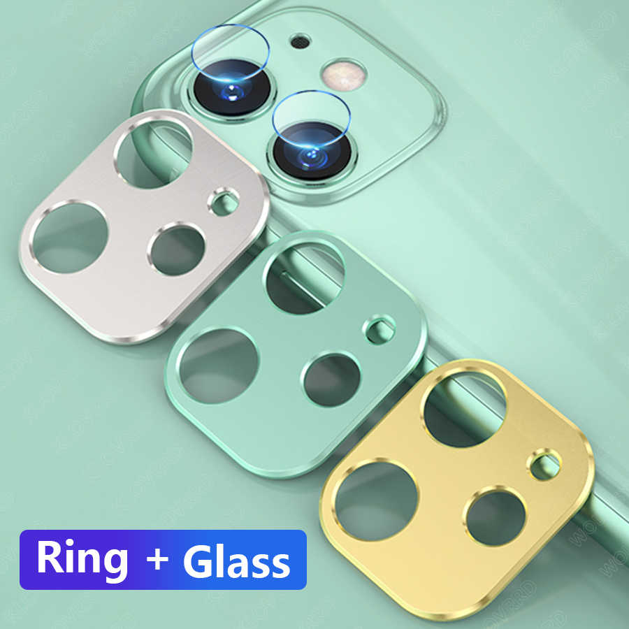 For iPhone 11 Pro Max Back Camera Lens Tempered Glass Film For iPhone 11 Pro Case Cover Metal Protection Ring Screen Protector