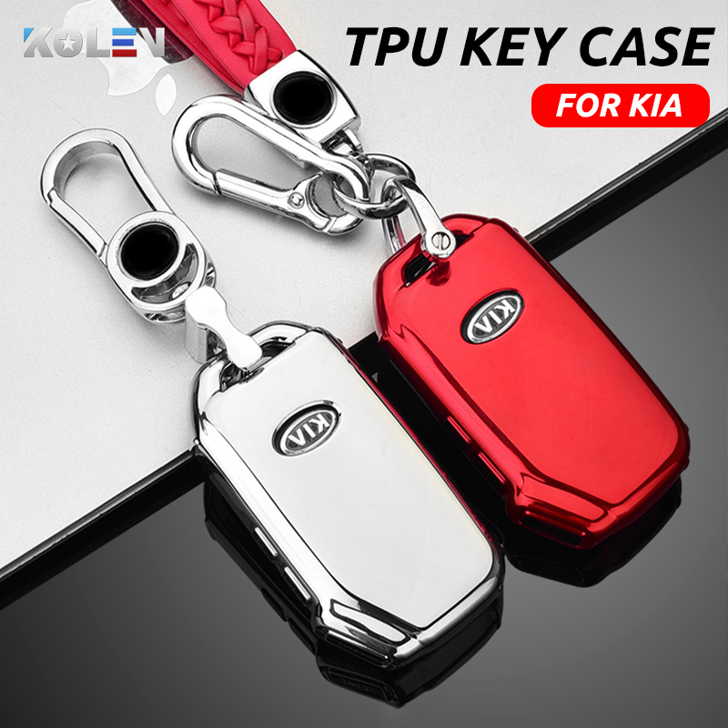 Leather Key Shell Case Cover for KIA Rio Ceed Sportage Remote Key Case 3 Button