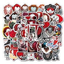 50 adet korku film Stephen kral It Sticker Pennywise Joker çıkartma motosiklet için Moto araba dizüstü bavul serin çıkartmalar