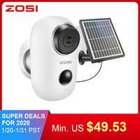 ZOSI batterie Rechargeable alimenté IP caméra énergie solaire charge 720 P/1080 P HD extérieur sans fil sécurité WiFi caméra