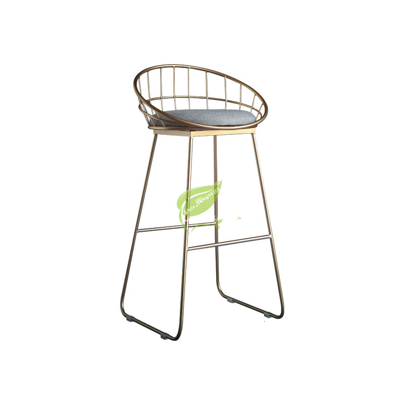 Stool Bar Tabouret De  Simple   Wrought Iron  Chair Gold High  Modern Dining  Nordic Pub Accessories