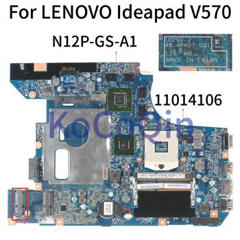 KoCoQin Laptop motherboard For LENOVO Ideapad V570 HM65 N12P-GS-A1 Mainboard 10290-2 48.4PA01.021 LZ57 11014106