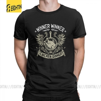 Pubg Wwcd Playerunknowns Winner Chicken Dinner Tee Shirts Plus Size T Shirts Purified Cotton T-Shirts Unique Short Sleeve Mens image
