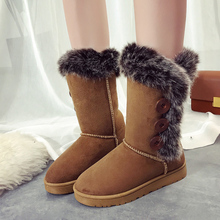 YeddaMavis Boots Women Snow Fashion Elastic Sock Woman Winter Warm Plush Booties Round Toe Casual Shoes