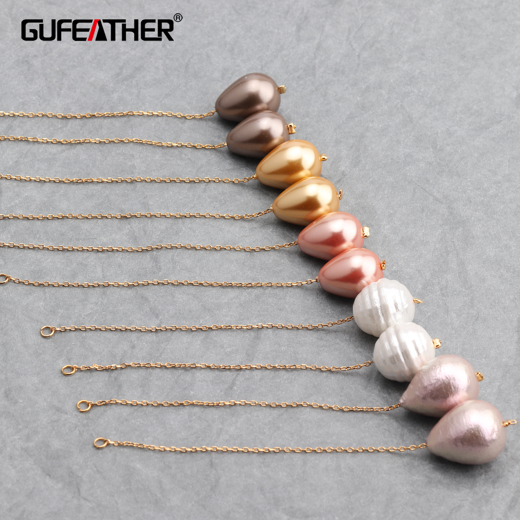 GUFEATHER M605,jewelry Accessories,diy Beads Pendant,18k Gold Plated,jump Ring,diy Earring Necklace,jewelry Making,10pcs/lot