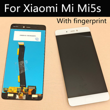 with Fingerprint recognition function For Xiaomi Mi5s MI 5S LCD Display+Touch Screen Assembly replace 5.15