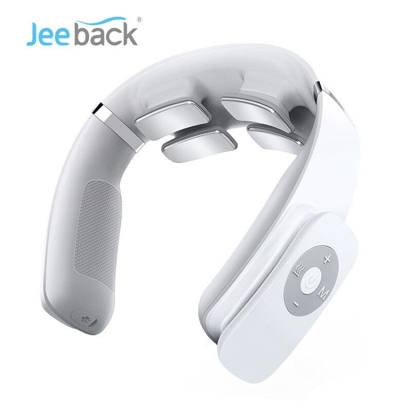 Elétrica sem Fio Aliviar a Dor Cuidados de Saúde Jeeback Pescoço Massageador Dezenas Pulso no 4 Cabeça Vibrador Aquecimento Massagem Cervical g3