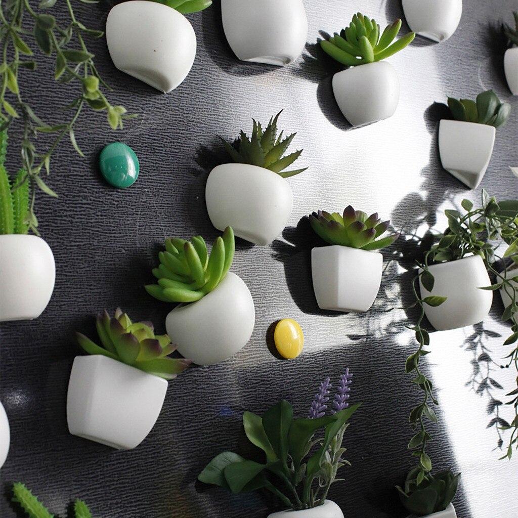 Verrassend Kunstmatige Bloem Vetplant Koelkast Sticker Bonsai Magneet Groene DF-41