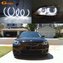For BMW E60 E61 M5 520i 525i 530i 540i 545i 550i Pre LCI 2003 2007 Ultra bright SMD LED Angel Eyes halo rings DRL Car styling