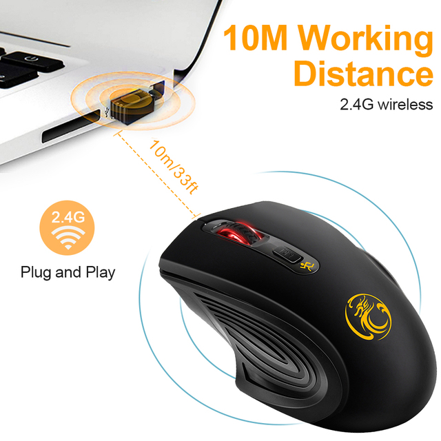 Wireless Mouse USB Computer Mouse Silent Ergonomic Mouse 2000 DPI Optical Mause Gamer Noiseless Mice Wireless For PC Laptop 4