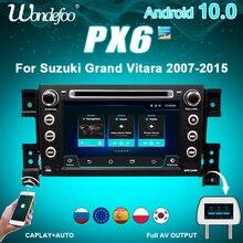 2 דין אנדרואיד 10 רכב רדיו PX6 עבור סוזוקי גרנד VITARA 2007 2013 2DIN אוטומטי אודיו סטריאו לרכב ניווט מסך מולטימדיה מערכת