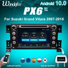 2 din android 10 carro rádio px6 para suzuki grand vitara 2007 2013 2din carro de áudio estéreo tela de navegação sistema multimídia
