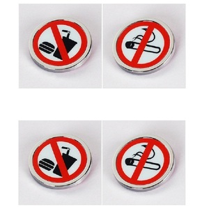 Sticker No Smoking No eating Sign Car Vehicle Truck Do Not Smoke Round Decal Door Decoration for Automobiles Stickers on Cars