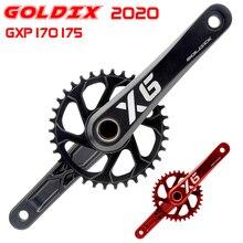 цена на Goldix bike crankset GXP MTB crank 170 175 kurbel platte rot 32T 34T 36T 38T mtb parts bicycle crank  mtb parts
