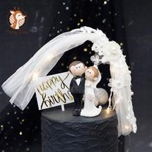 Décoration de gâteau en résine Prince & princesse | Poupée de mariage, mariage romantique pour mariée et marié, décoration de gâteau de mariage anniversaire